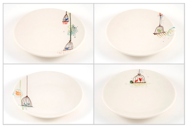 Caged Lollibird Plates