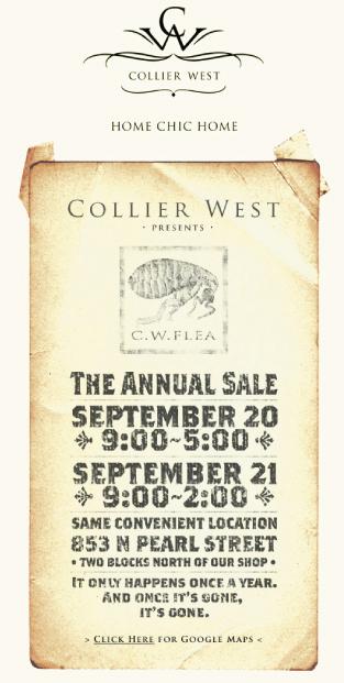Collier West's annual C.W. Flea sale