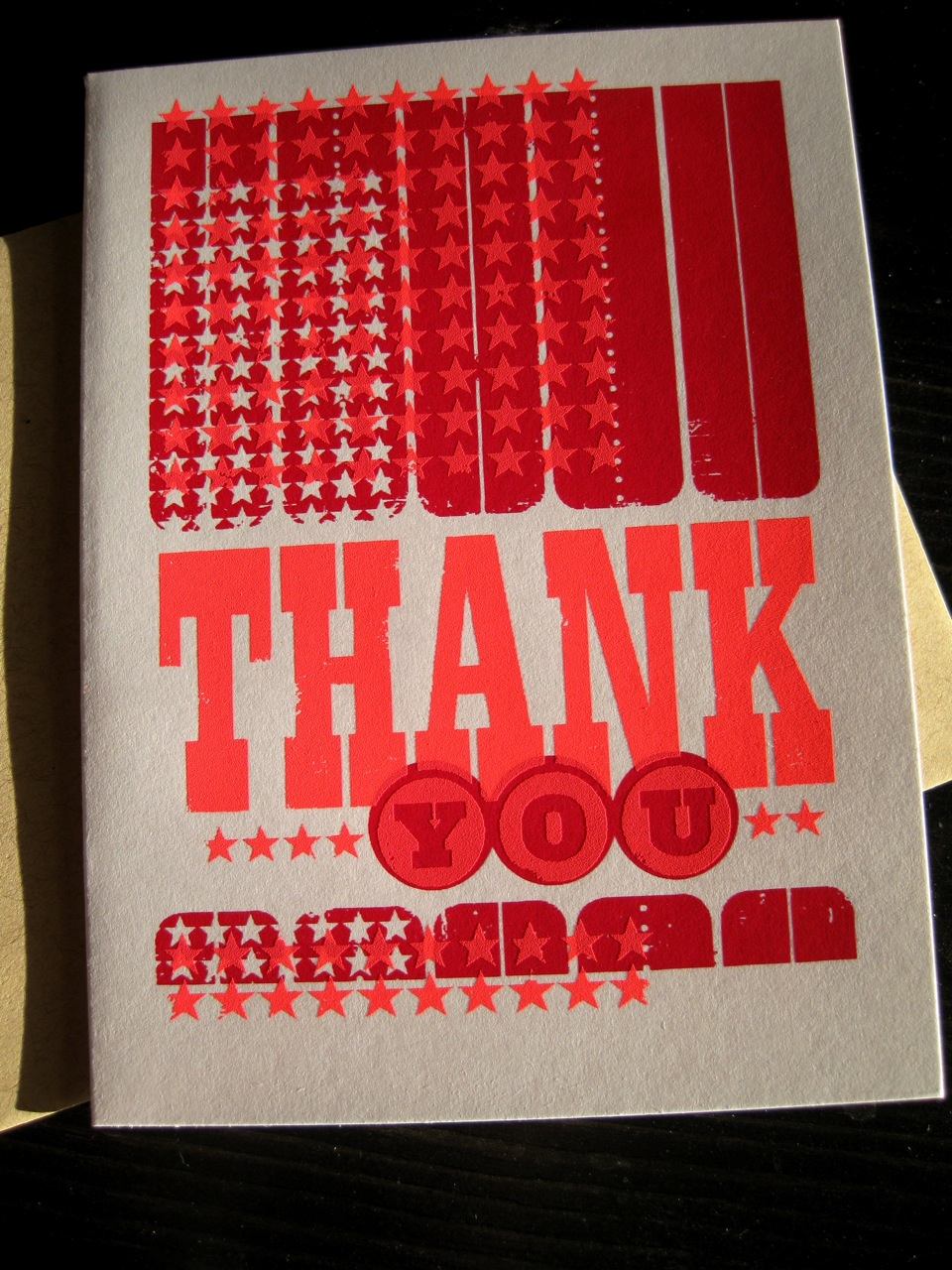 thank you silkscreened card by L2 Design Collective