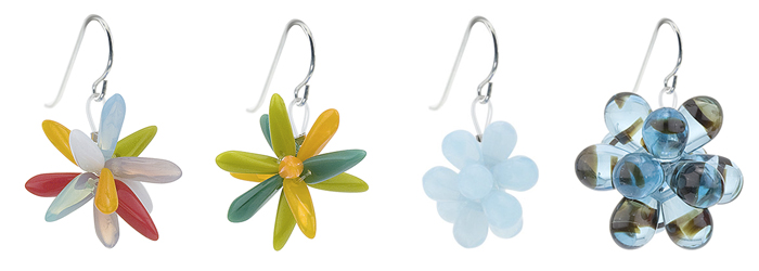Flake Earrings - Birthday & Shaggy, Cluster Earrings - Blankie, Boom Earrings - Blue Tortoise