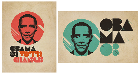 Retro Obama designs from Xtrapop