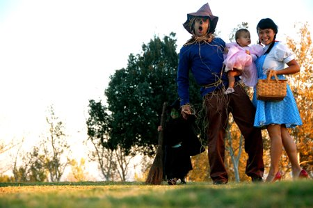 the family dressed as Wizard of Oz characters for Halloween; you MUST read her story and see the accompanying pictures
