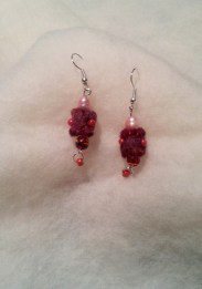 Maroon felt earrings