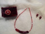 Maroon felt accessory set