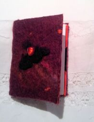 Felt Covered Note Book