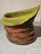 green brown vessel left