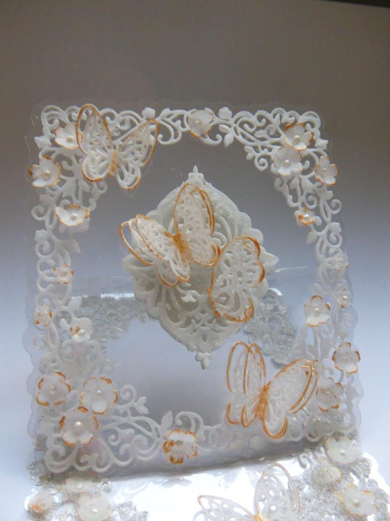 Sue Wilson Delicate Garden Frame Acetate Easel Card