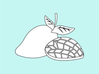 Mango Fruit Outline Icon Cartoon Vector Graphic by 1tokosepatu · Creative Fabrica