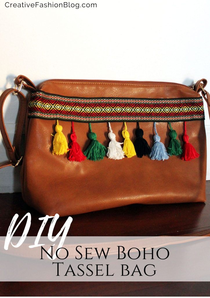 How to make a Refashion a DIY boho bag Leather Purse no sew tutorial