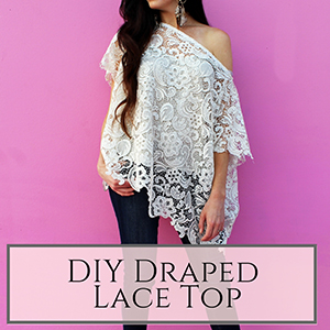 DIY draped lace top