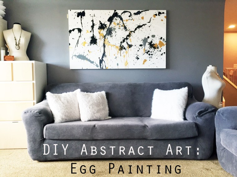 DIY Egg Splatter Art