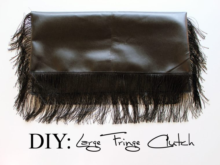 DIY Fringe Clutch