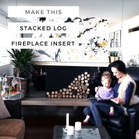 DIY Stacked Log Fireplace Insert - Creative Fashion Blog