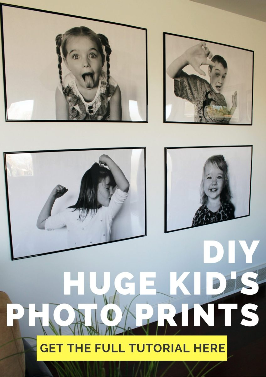DIY: Oversize Kid Poster Prints