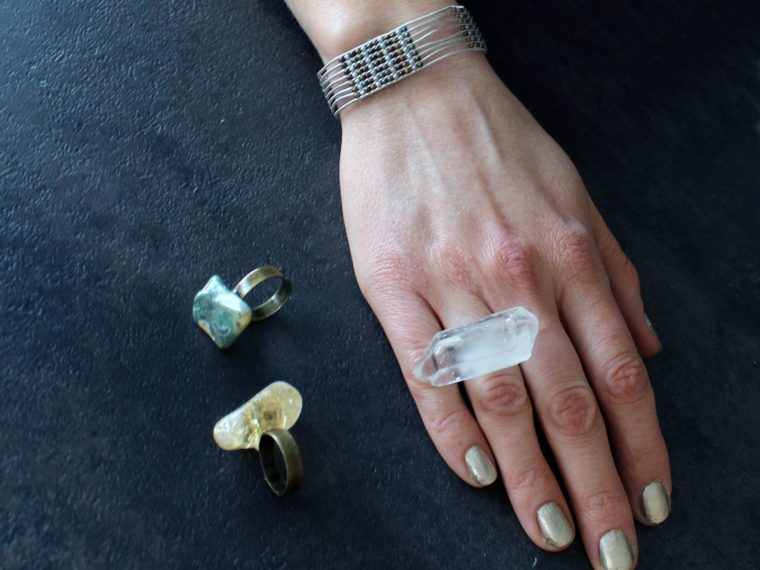 DIY Crystal Statement Cocktail Ring