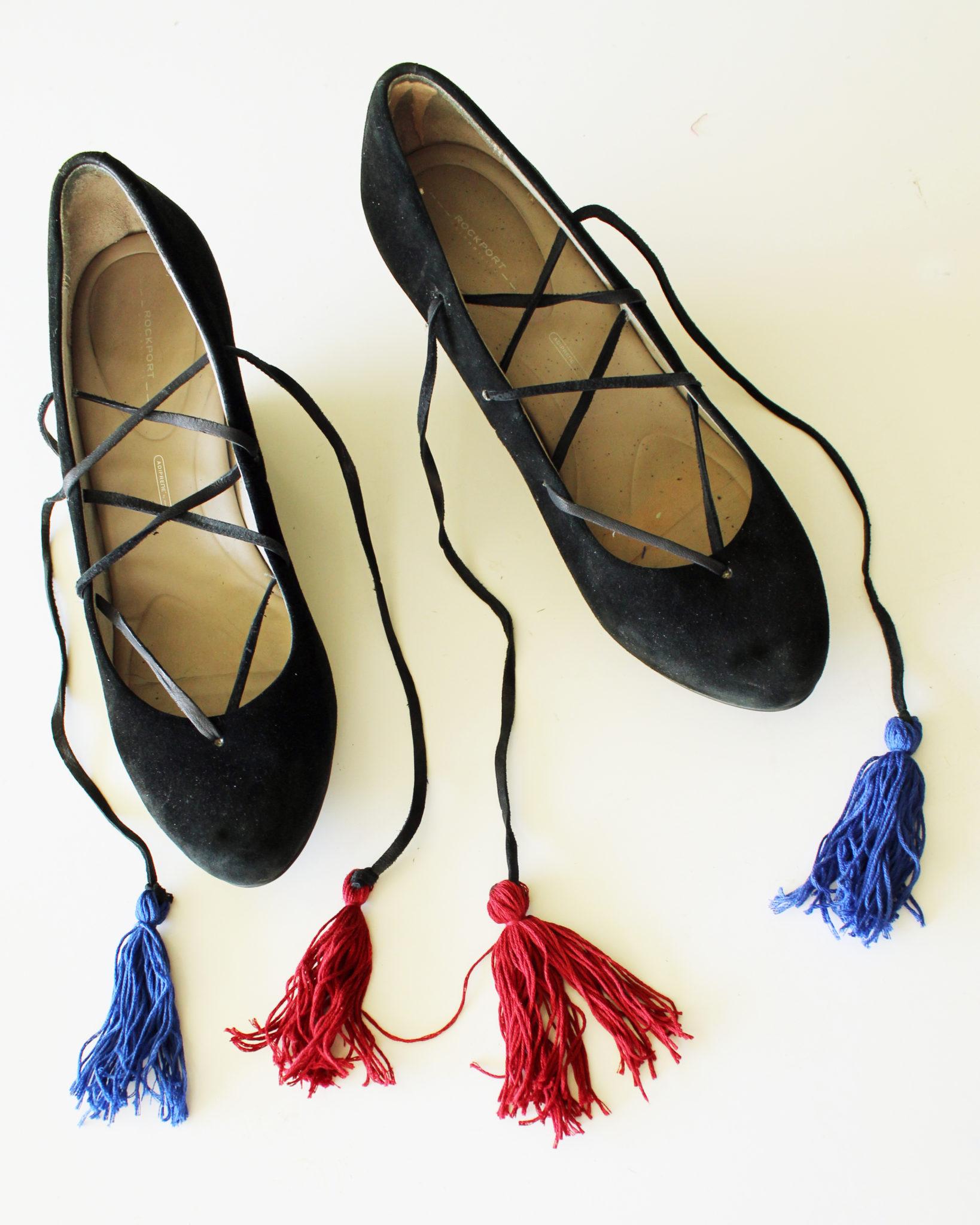 DIY Fashion Lace Up Boho Shoe Refashion Full Tutorial