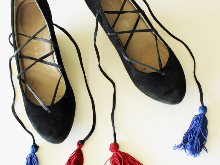 DIY Fashion Lace Up Boho Shoe Refashion Full Tutorial