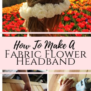how to make a floral crown from fabric flowers