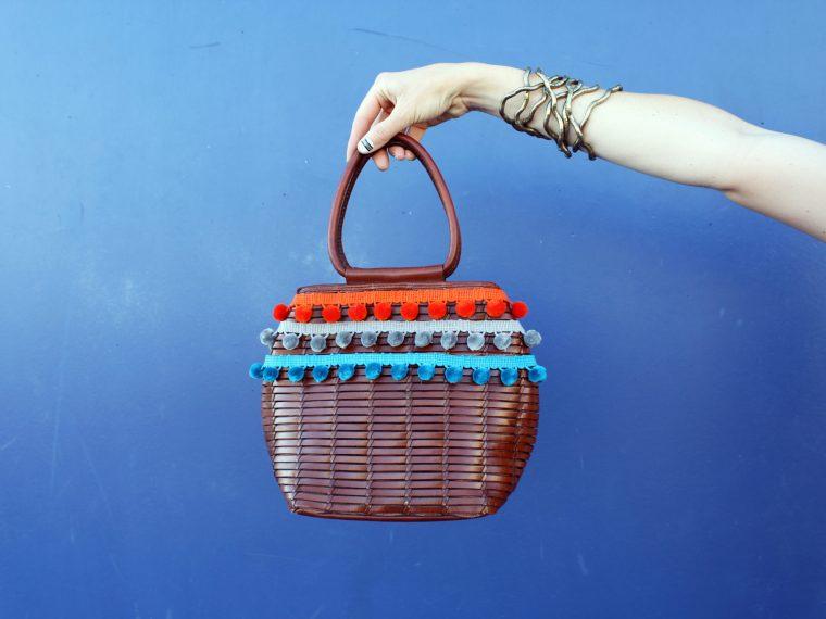 DIY Woven Pom Purse