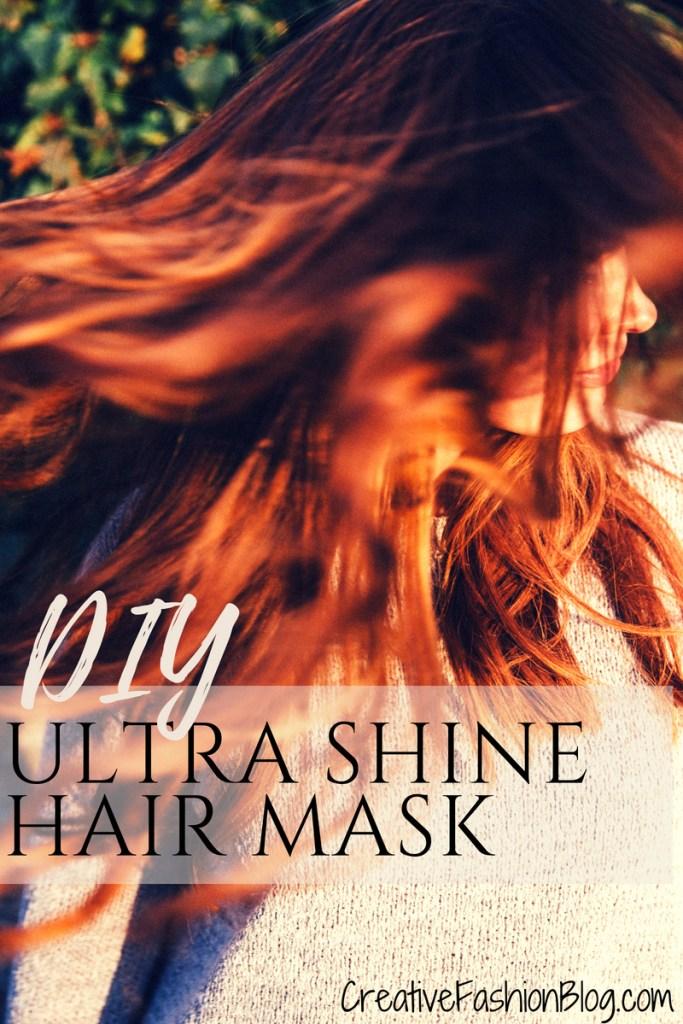 DIY shiny hair protein hair lamination hair mask with all natural gelatin