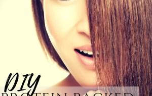 DIY shiny hair protein hair lamination hair mask with gelatin