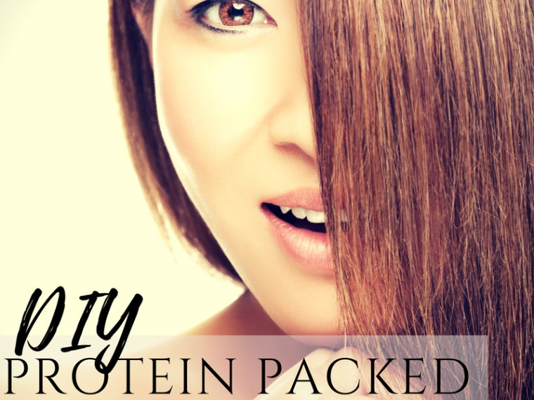DIY shiny hair protein hair lamination hair mask with gelatin