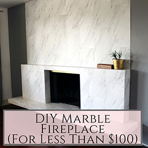 DIY Marble Fireplace