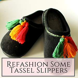 tassel slippers