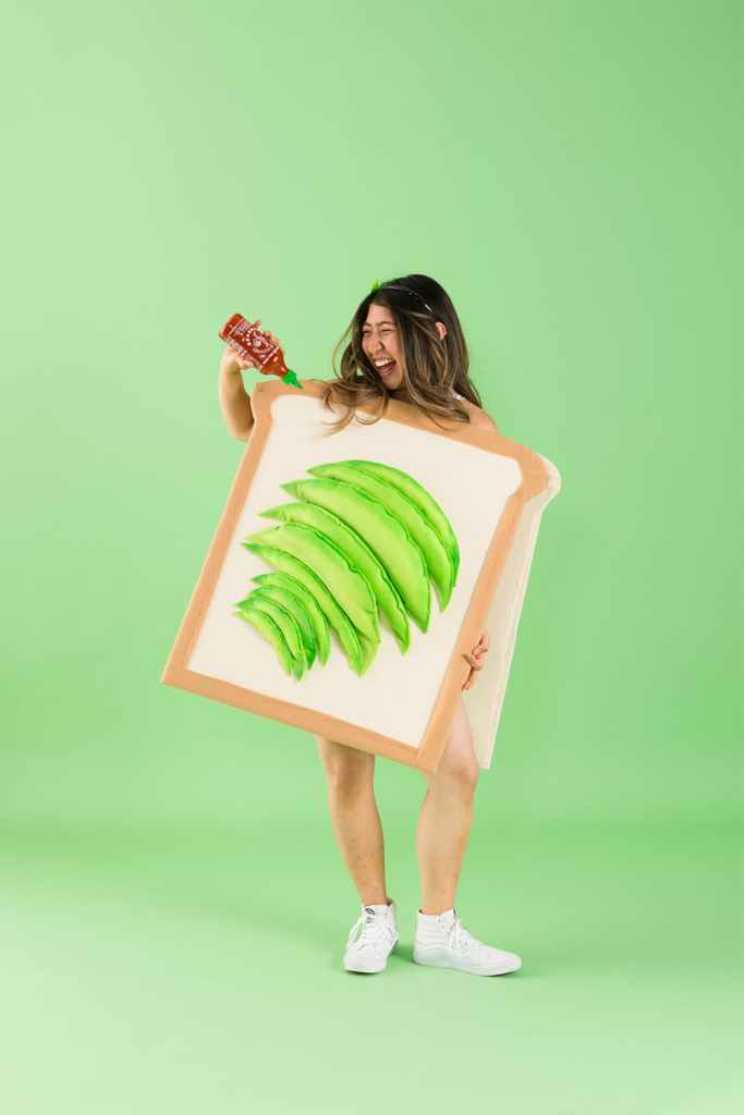Easy DIY Halloween Costumes for women. Make an Avocado Toast.