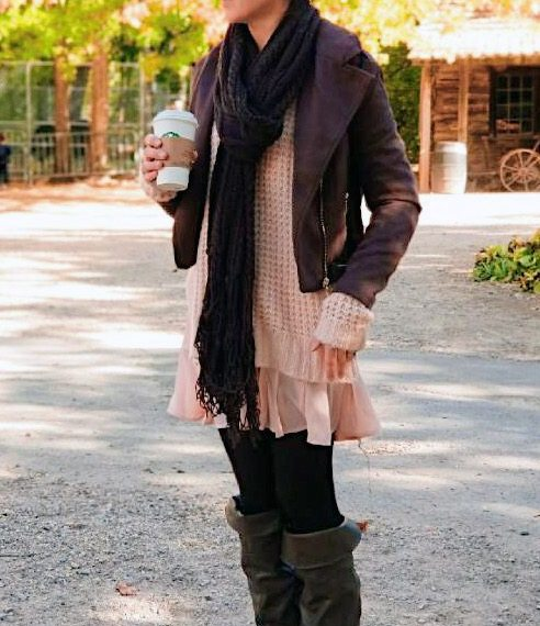 Fall 2017 Outfit Ideas. Pink and Brown layers