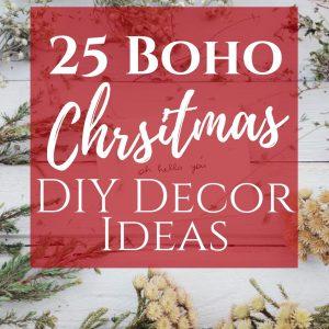 25 boho chic christmas decor ideas