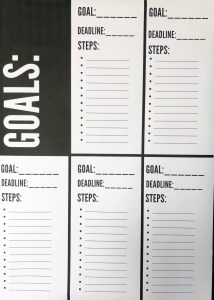 FREE Goal setting printable Vision Board and Deadline Worksheet