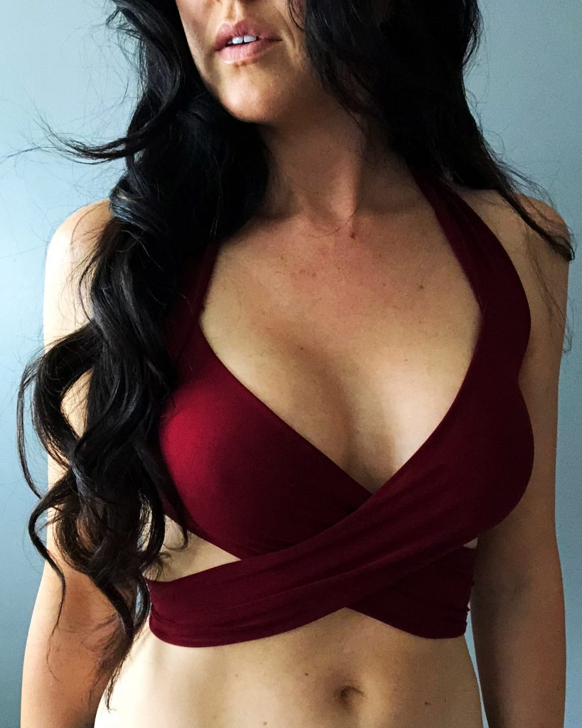 How to make a sexy wrap swimsuit bikini top from scratch .