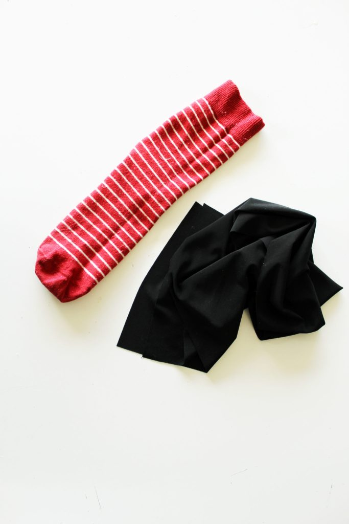 DIY Black Thigh High Socks -