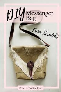 DIY Boho Messenger Bag from scratch easy beginner sewing tutorial