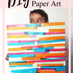 DIY Tissue Paper Abstract Art Prroject
