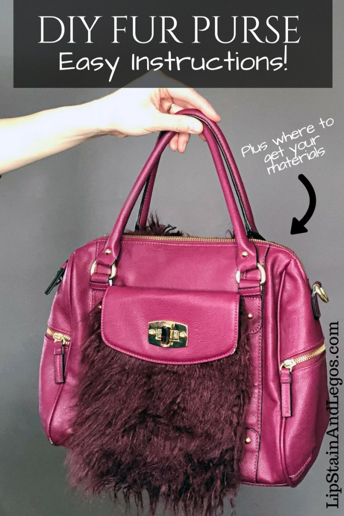 How to add fur to an old purse. A simple refashion DIY tutorial.