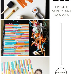 DIY Tissue Paper Abstract Art Prroject!