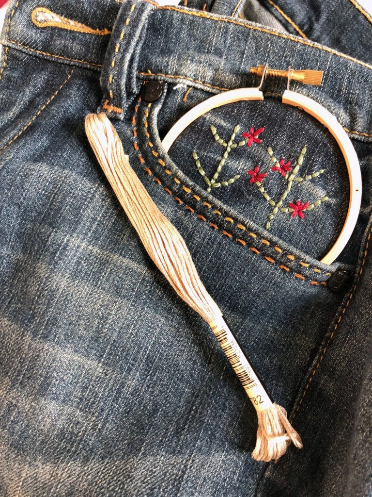 3 Simple Ways to Embroider Jeans For The Absolute Beginner