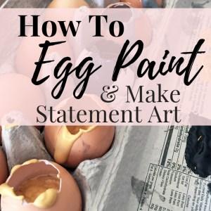 DIY Egg Splatter Statement Art Project