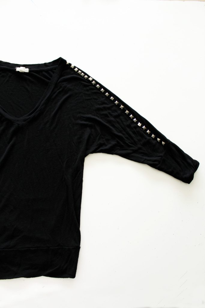 How To Add Studs To A Basic Shirt . A Clothing Refashion