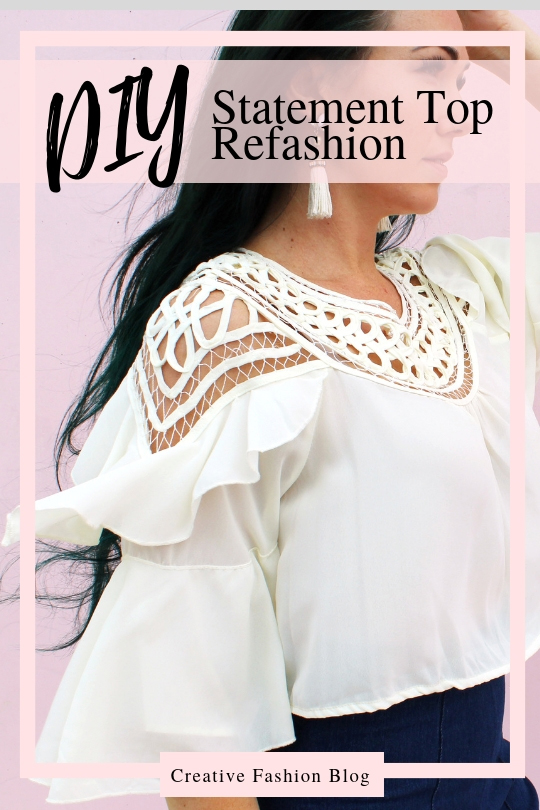 Make a boho top from an old dress