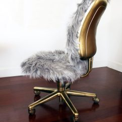 Desk Chair Diy Joybird Faux Fur A Gold Glam Repurposed Project Creative Make This And Office With Step By Tutorial