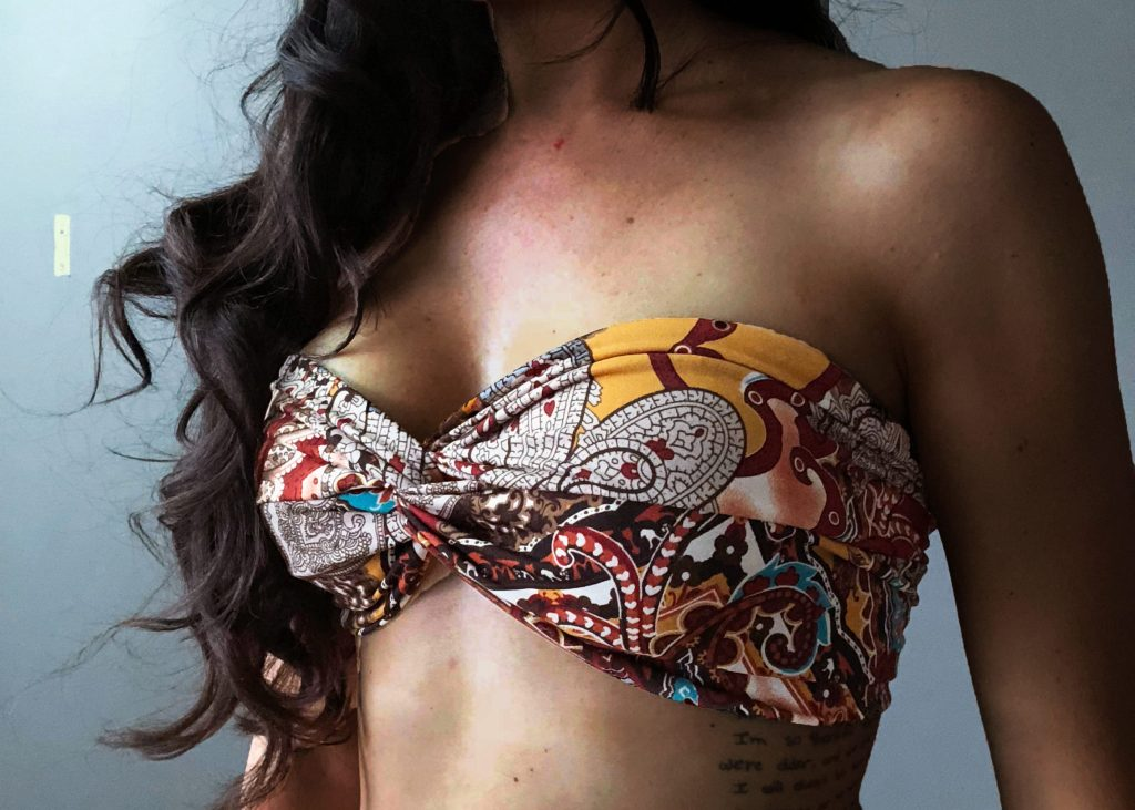 Make a DIY Strapless Bikini Top Tutorial
