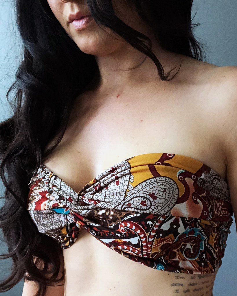 Make a DIY Strapless Bikini Top