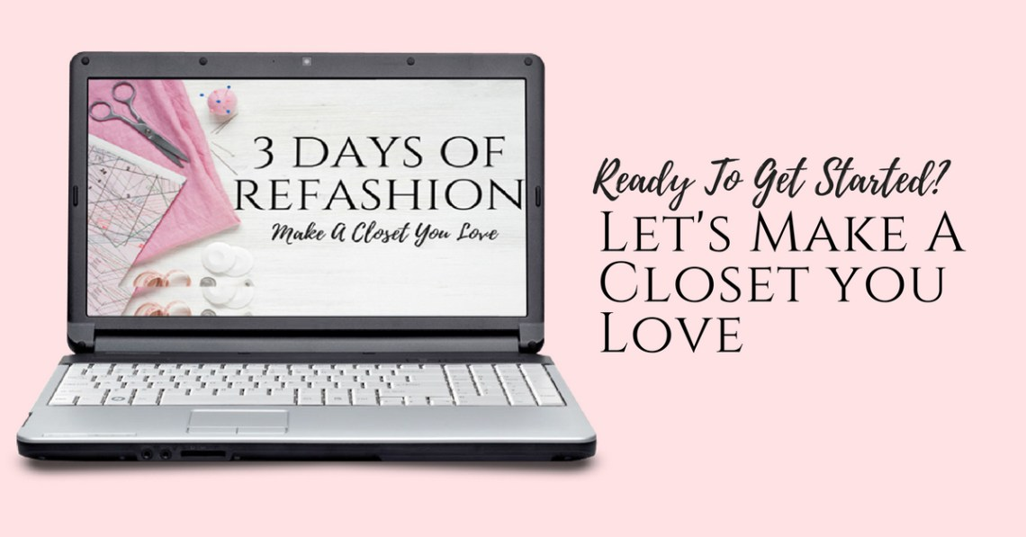 3 Days of Refashion email series getting started