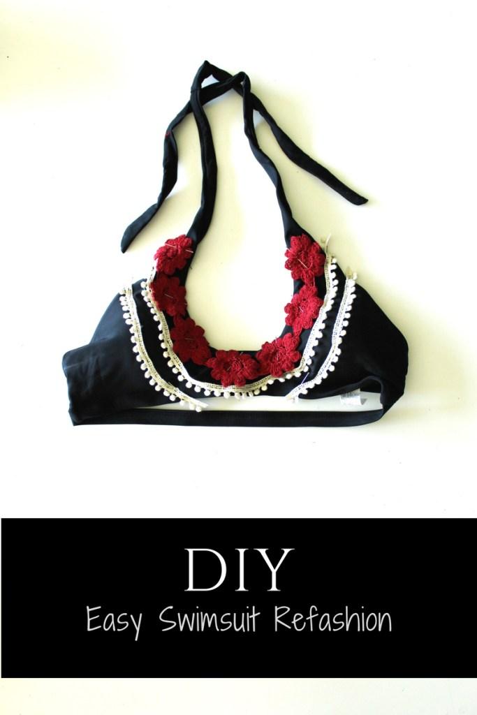 Bikini Top Swimsuit refashion easy DIY ..