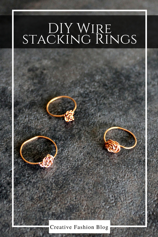 How to Make a DIY wire stacking ring .