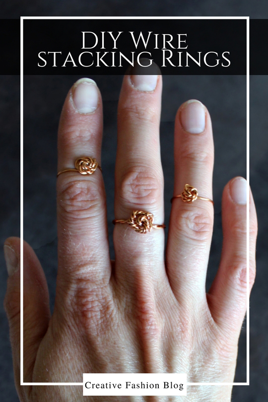 How to make your own DIY simple wire stacking rings