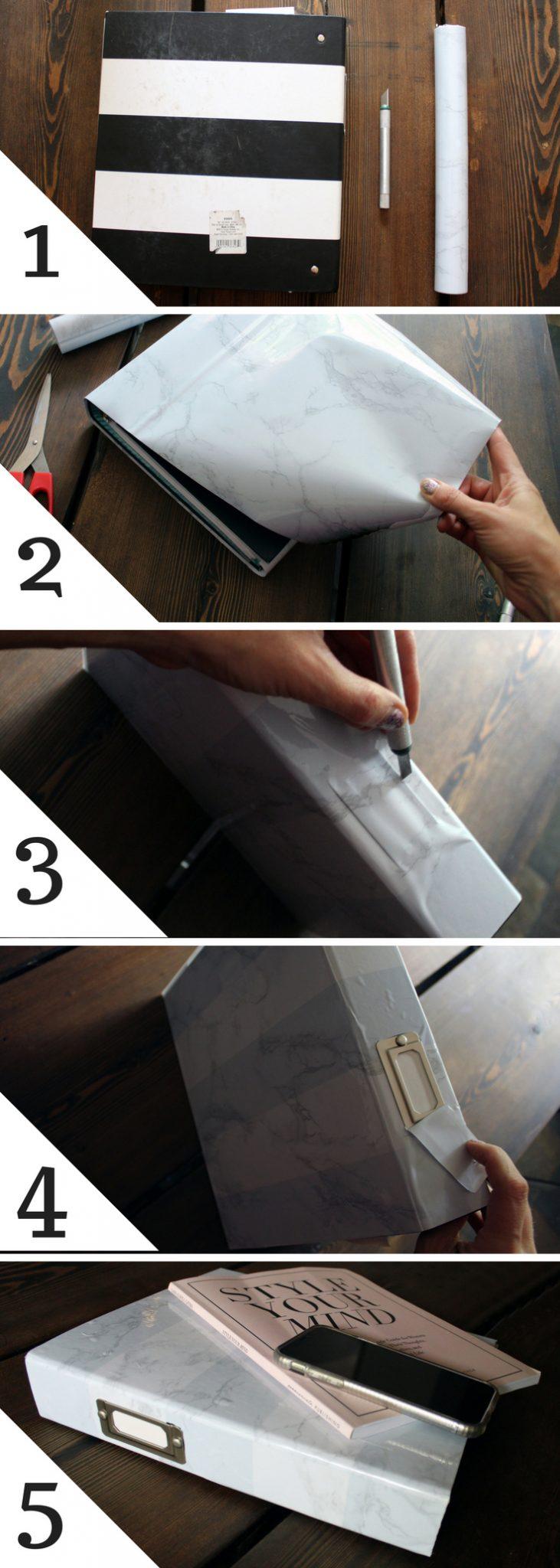 Marble binder DIY craft project